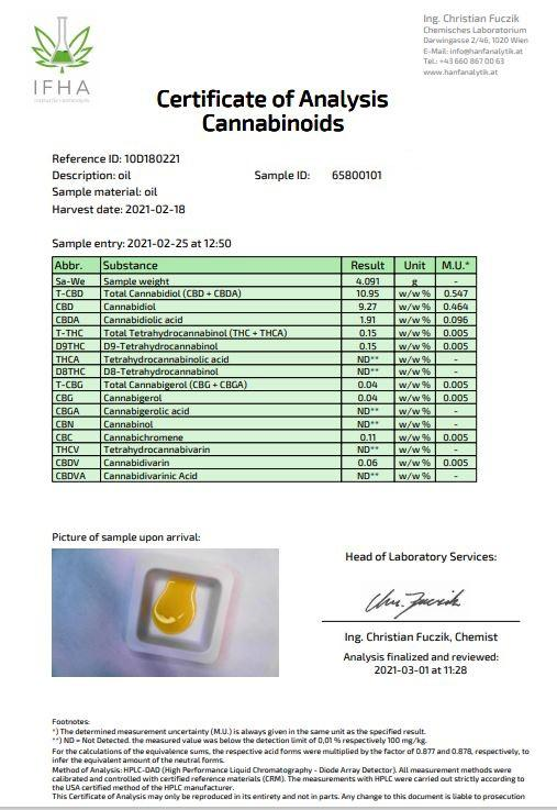 Fullspektrum olej 10 % CBD